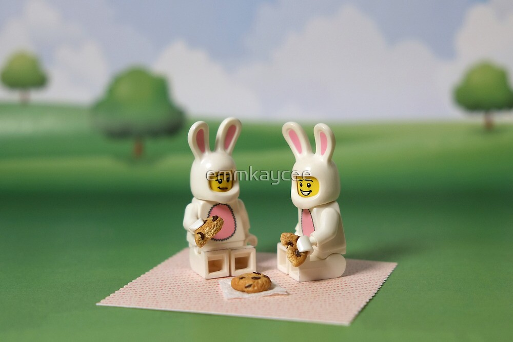 Bunny Picnic Time By Emmkaycee Redbubble