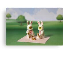 Bunny - Picnic Time Canvas Print