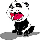 Yawning Panda Cub by SEspider