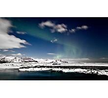 Aurora at Glacier Lagoon Photographic Print