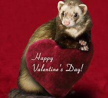 Valentine's Day Ferret by jkartlife