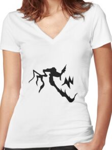 Scrab first tattoo Women's Fitted V-Neck T-Shirt