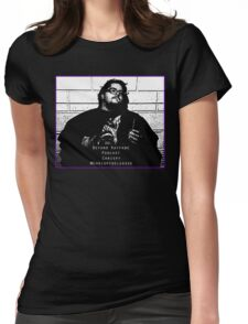 Chrispy Mugshot - Beyond Kayfabe Podcast Womens Fitted T-Shirt