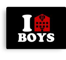 I Love Hotel Boys Canvas Print