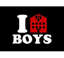 I Love Hotel Boys Photographic Print