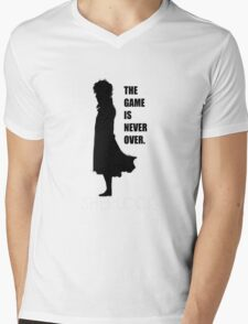 The Game is never over. Mens V-Neck T-Shirt