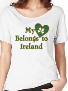 My Heart Belongs To Ireland Women's Relaxed Fit T-Shirt