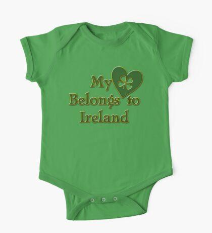 My Heart Belongs To Ireland One Piece - Short Sleeve