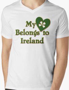 My Heart Belongs To Ireland Mens V-Neck T-Shirt