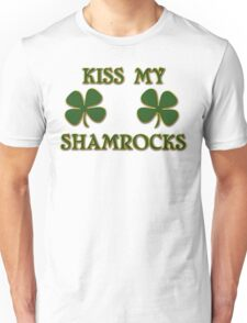 Irish Kiss My Shamrocks Unisex T-Shirt