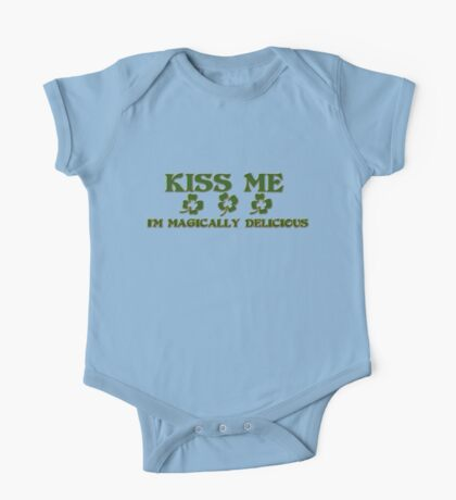 Irish Kiss Me I'm Magically Delicious One Piece - Short Sleeve