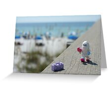 Yeti - Strolling on the Boardwalk Greeting Card