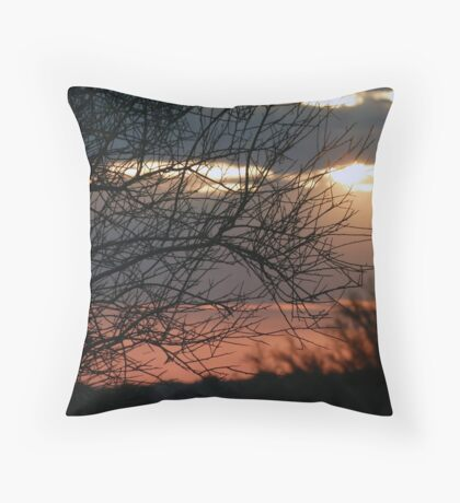 Sunset Shrub Throw Pillow