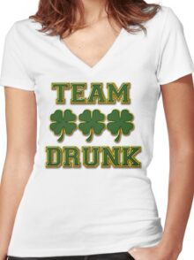 Irish Drinking Women's Fitted V-Neck T-Shirt