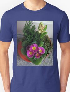 Primrose, Budding Hyacinth and a Little Tree Unisex T-Shirt