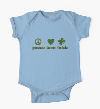 Peace Love Irish One Piece - Short Sleeve
