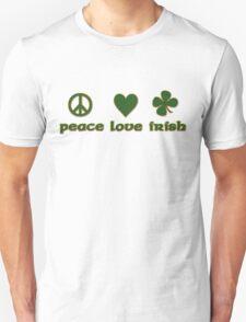 Peace Love Irish T-Shirt