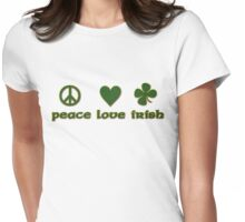 Peace Love Irish Womens Fitted T-Shirt
