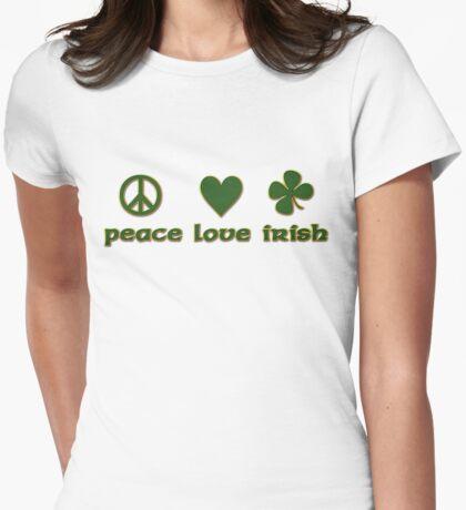 Peace Love Irish Womens Fitted T-Shirt