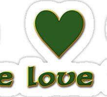 Peace Love Irish Sticker