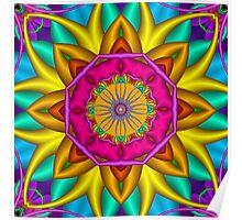 The fractal Sunflower Poster