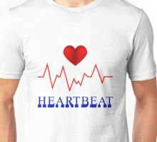 Heart Beat Designer tees and stickers Unisex T-Shirt