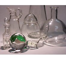 Clear Glass, with Green 01 Photographic Print