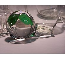 Clear Glass, with Green 02 Photographic Print