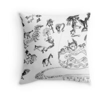 Wendoodle 4 Throw Pillow