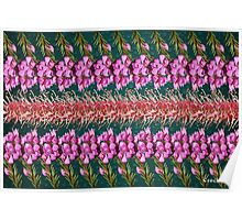 Boronia and Grevillia Flower Collage Poster