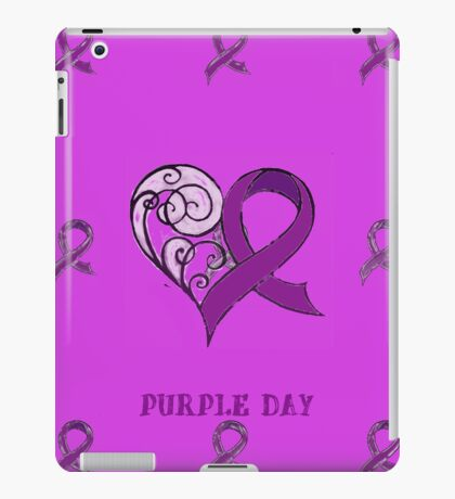 CHARITY FUNDRAISER - iPad Cover, PURPLE DAY FOR EPILEPSY AWARENESS  MARCH 26 2014 iPad Case/Skin