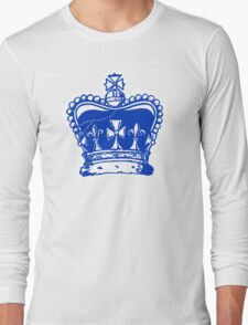Crown Jewels White Outline Long Sleeve T-Shirt