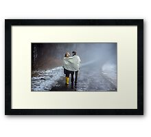 Lovers in the Mist Framed Print