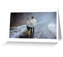 Lovers in the Mist Greeting Card