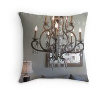 Shabby Chic Chandelier 2 Throw Pillow
