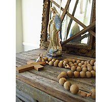 Shabby Chic Rosary Photographic Print
