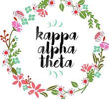 Kappa Alpha Theta Wreath by SLEV