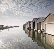 Boat Houses at Lake Erie art photo print by ArtNudePhotos