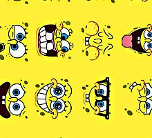 Many Faces of Spongebob by SassyNoodleSoup