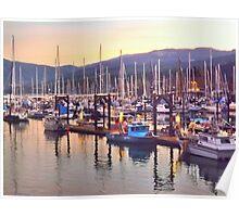 The boats of John Wayne Marina Poster