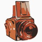 Hasselblad 6x6 Camera Design in Orange by strayfoto