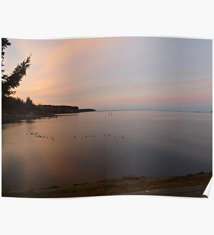 Sunset at the John Wayne Marina Poster