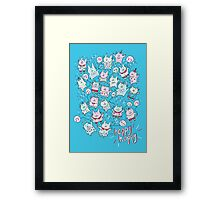Happy Party Cats Framed Print