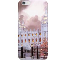 Salt Lake Temple Winter Gate iPhone Case/Skin