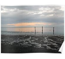 Dungeness Clouds Poster
