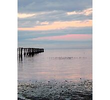 Dungeness Bay Old Pier Photographic Print