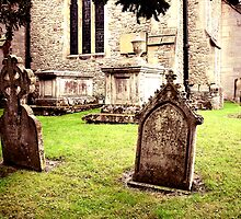 Cemetery Headstones Hever Castle England by Moonamie