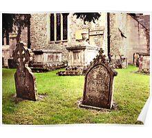 Cemetery Headstones Hever Castle England Poster