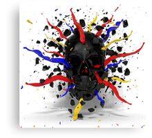 Skull Explode Canvas Print
