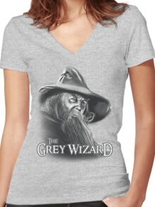 The Grey Wizard Women's Fitted V-Neck T-Shirt